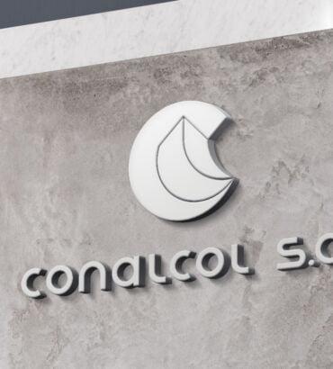 Backing de Conalcol, diseñado por Galanés Agencia de Comunicación.