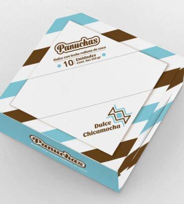 Empaque de panuchas de Dulce Chicamocha, diseñado por Galanés Agencia de Comunicación.