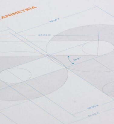 Planimetría del logo de Confipetrol, diseñada por Galanés Agencia de Comunicación.