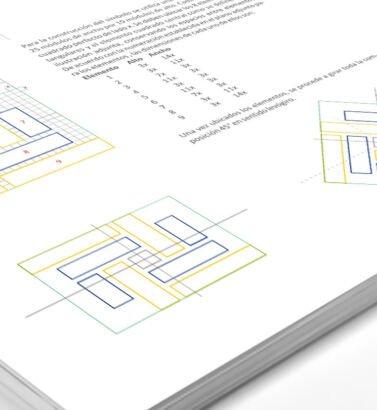 Planimetría de la identidad visual de Construvicol, diseñada por Galanés Agencia de Comunicación.