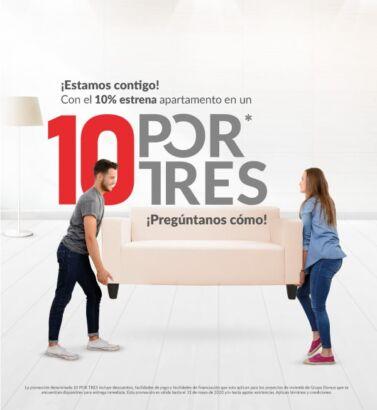 Campaña 10 POR TRES Grupo Domus portafolio Galanés Agencia de comunicación