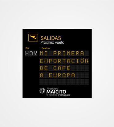Exportando con Maicito- Valla publicitaria por Galanés Agencia de Comunicación